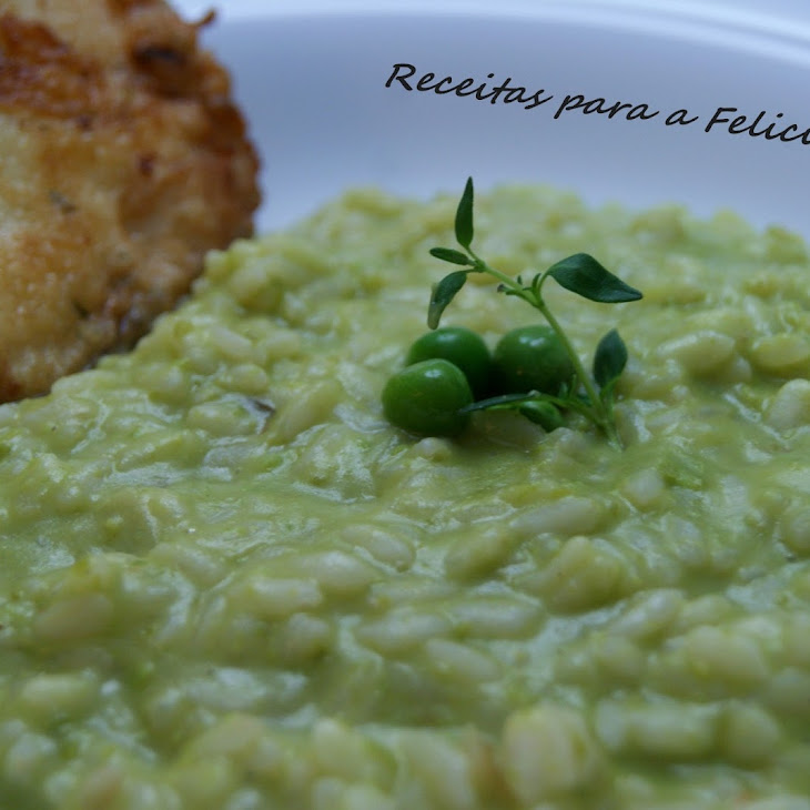 Creamy Risotto with Mashed Peas