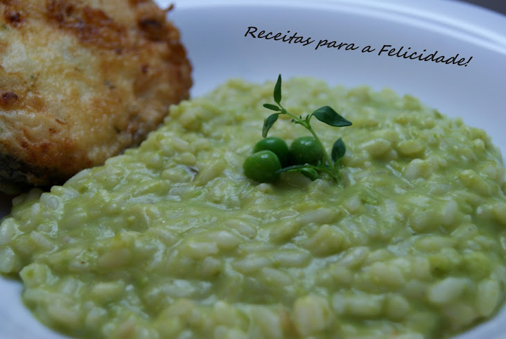 Creamy Risotto with Mashed Peas Recipe