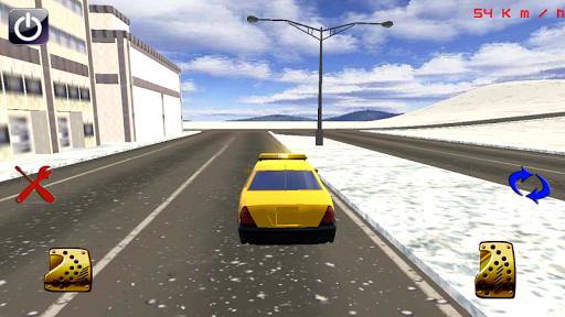 圣诞节出租车驱动3D