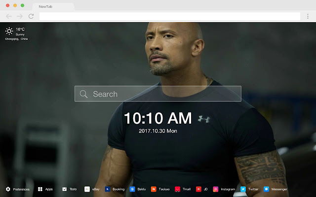 Dwayne Johnson Pop Star HD New Tabs Themes