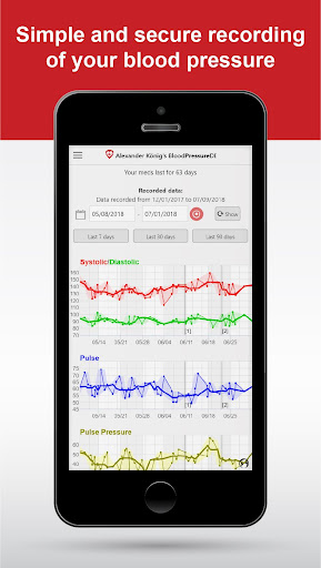 BloodPressureDB screenshot for Android