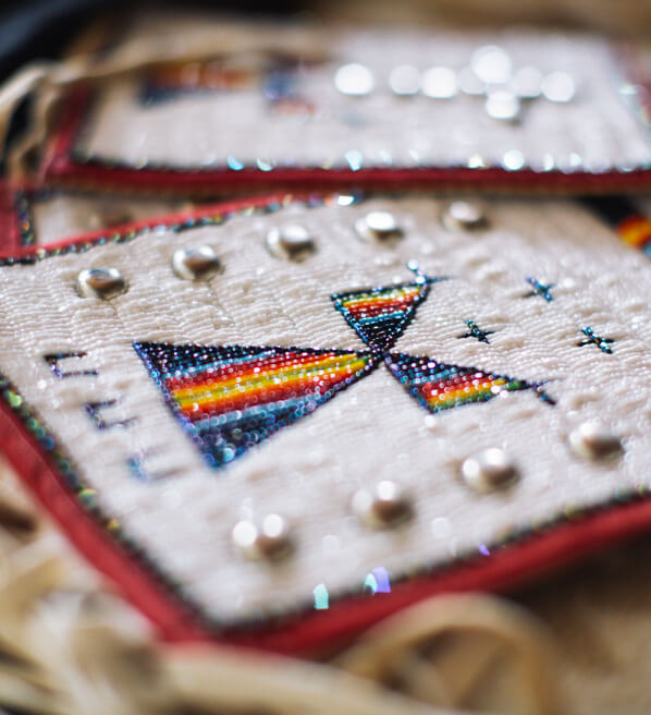 Beaded shirt close-up