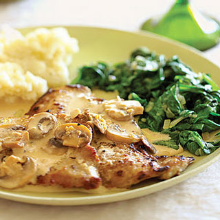 Veal Scaloppine with Mushroom Marsala Sauce.