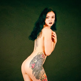 by Shawn Crowley - Nudes & Boudoir Artistic Nude ( studio, tattoo, model, film, nude, seattle, portra 800 )