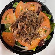 Beef Shawarma Greek Salad