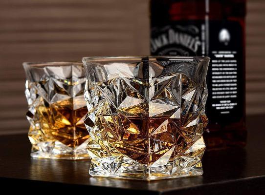 Sunsiddhicreation Crystal Cut Diamond Best Whiskey Glass