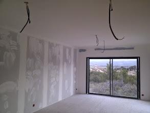 Photo: plafond woonkamer in de grondverf