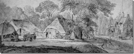 Velde van de Jan II Villageview with farms