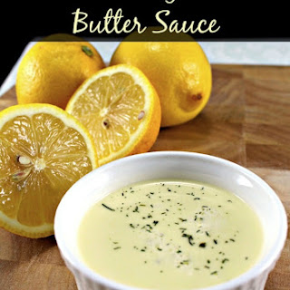 Lemon and Garlic Butter Sauce.