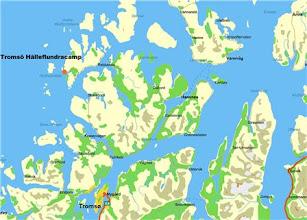 Photo: Karta Ttromsö http://norgehavsfiske.se/tromso_fiskecamp