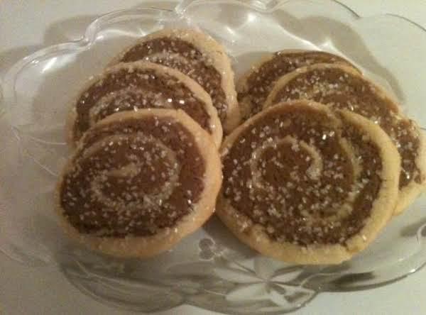 White Chocolate & Ginger Pinwheels Recipe