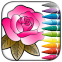 FLOWERS and GARDEN - Coloring for Adult icon