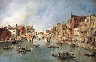 """Photo: Francesco Guardi, """"Il ponte a tre archi a Cannaregio"""" (1765-1770)"""