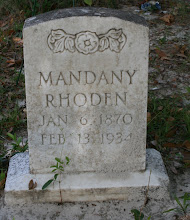 Photo: Mandany Thompson Rhoden daughter of John Thompson and Martha Unknown / Wife of Nathan Rhden so of Rachel Rhoden