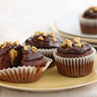 Chocolate-Peanut Butter Cupcakes.