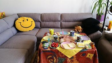 Photo: 6.5.2017 - frühstückseinladung an gitti und hansi im neuen wohnzimmer bei mir