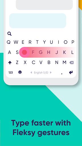 Fleksy: Fast Keyboard + Stickers, GIFs & Emojis 9.8.8 screenshots 2