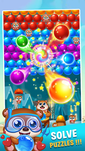 bubble shooter brown bear screenshot 2