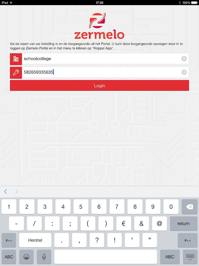 Zermelo- screenshot