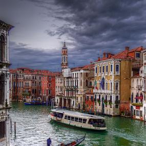 Waterworld by Darin Williams - City,  Street & Park  Street Scenes ( gondola, venice, vaporetto, canal, waterway,  )