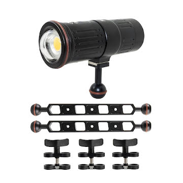 SCUBALAMP VIDEO KIT 7 600 LUMEN WITH STURDY ARMS