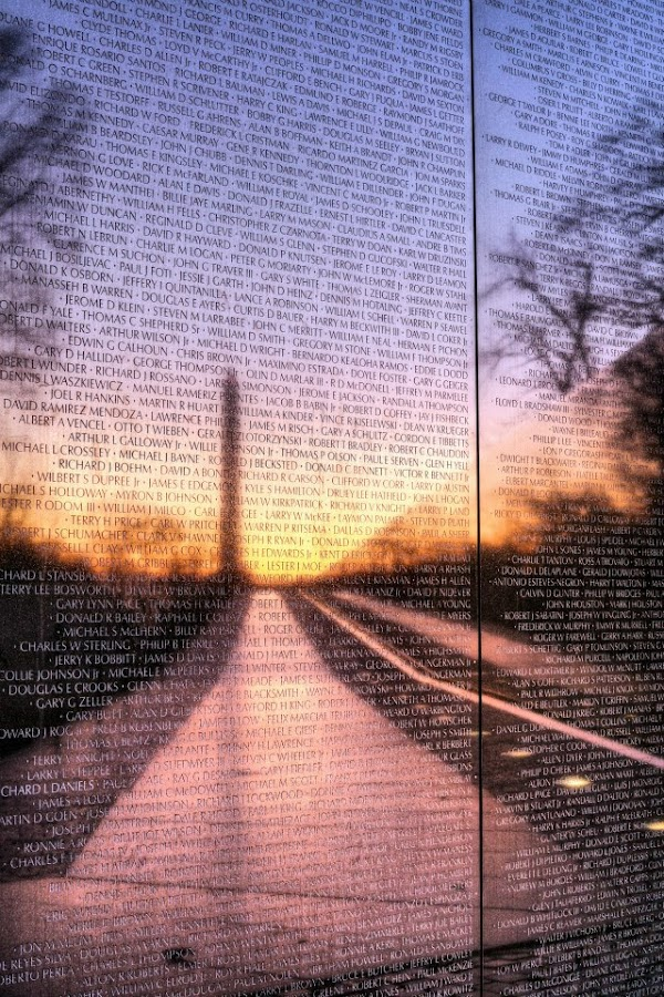 Remembered  by James Findley - Buildings & Architecture Statues & Monuments ( vietnam wall )