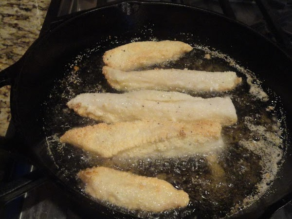 Fry fish in batches approximately 2 minutes per side.  Depending on the heat...