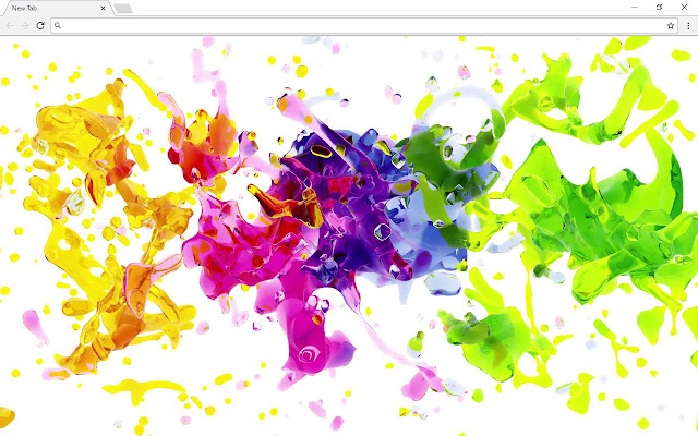 Flying Paint Wallpapers New Tab