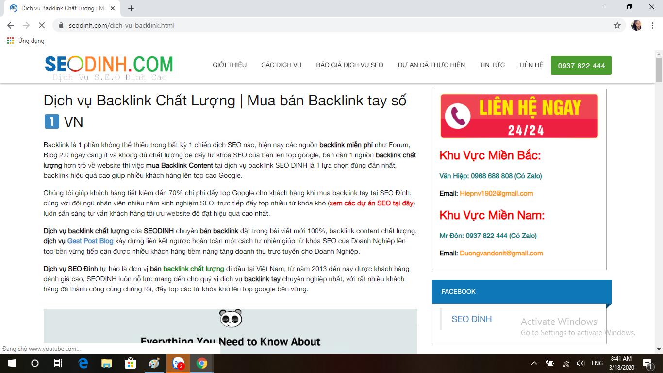Dịch vụ backlink tại Seo Đỉnh
