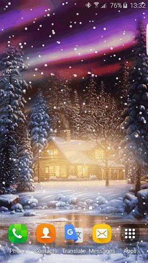 雪アニメーション壁紙