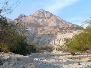Photo: The mountains of Ein Gedi, where David and his men hid from Saul.