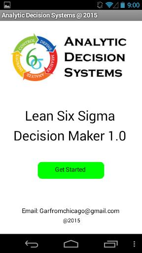 Lean Six Sigma Decision Maker