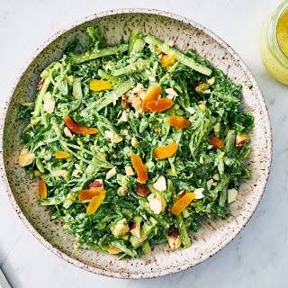 Snap Pea and Spicy Green Slaw with Apricot Dressing Recipe