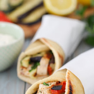 Mediterranean Chicken Pita Wraps.