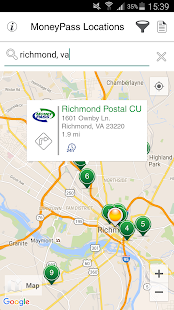 MoneyPass® Network ATM Locator- screenshot thumbnail