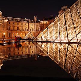 Louvre Museum, Paris, France by Andie Andros - Buildings & Architecture Other Exteriors ( paris, louvre, the viewing deck, france )