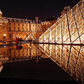 Louvre Museum, Paris, France by Andie Andros - Buildings & Architecture Other Exteriors ( paris, louvre, the viewing deck, france )