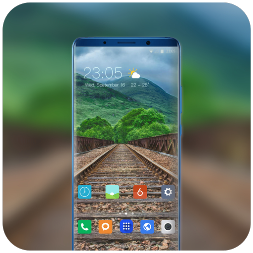 Theme for Mi mix 2s nature railroad wallpaper icon