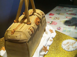 Designer bag shaped cake