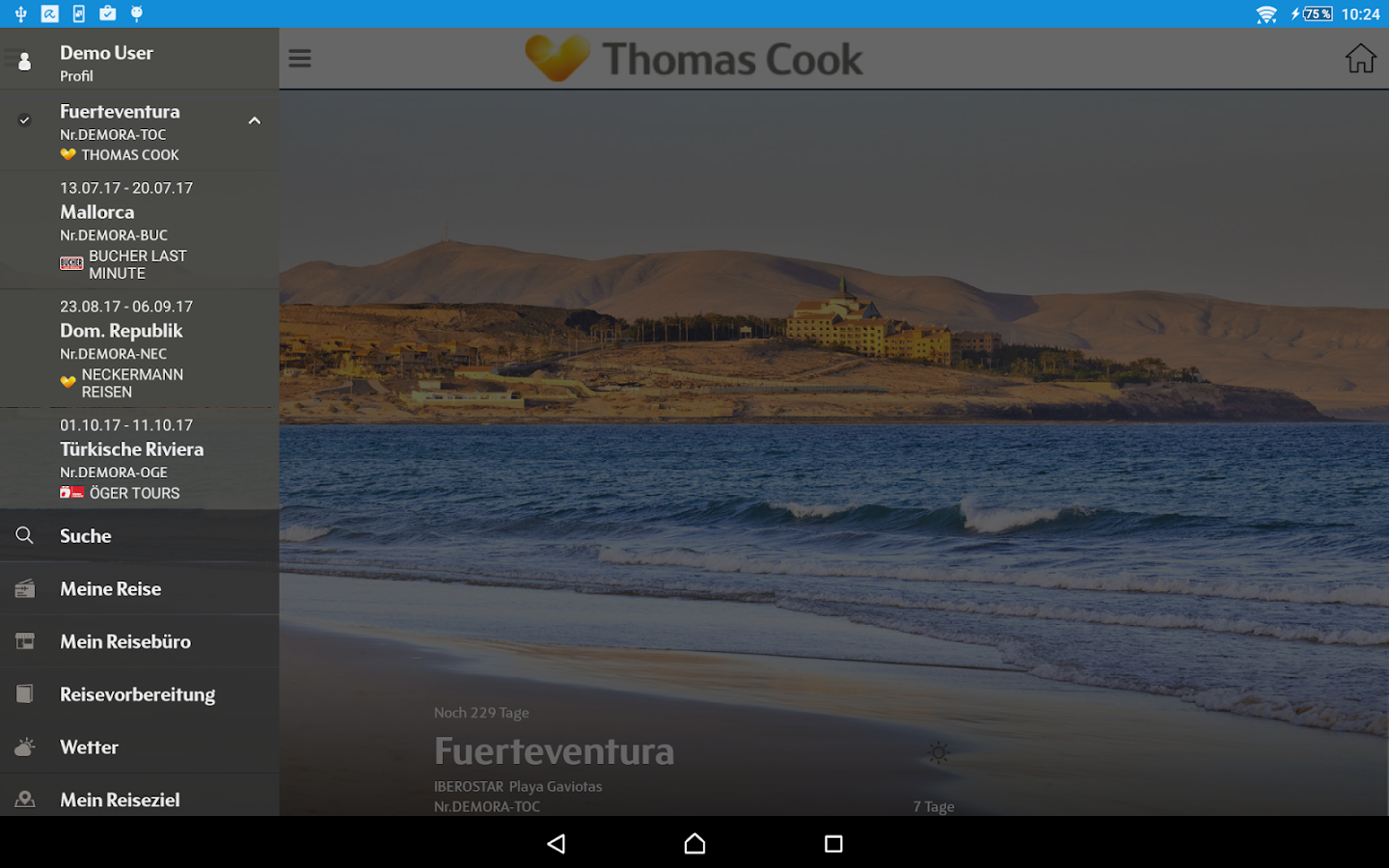 Thomas Cook Travelguide – Screenshot