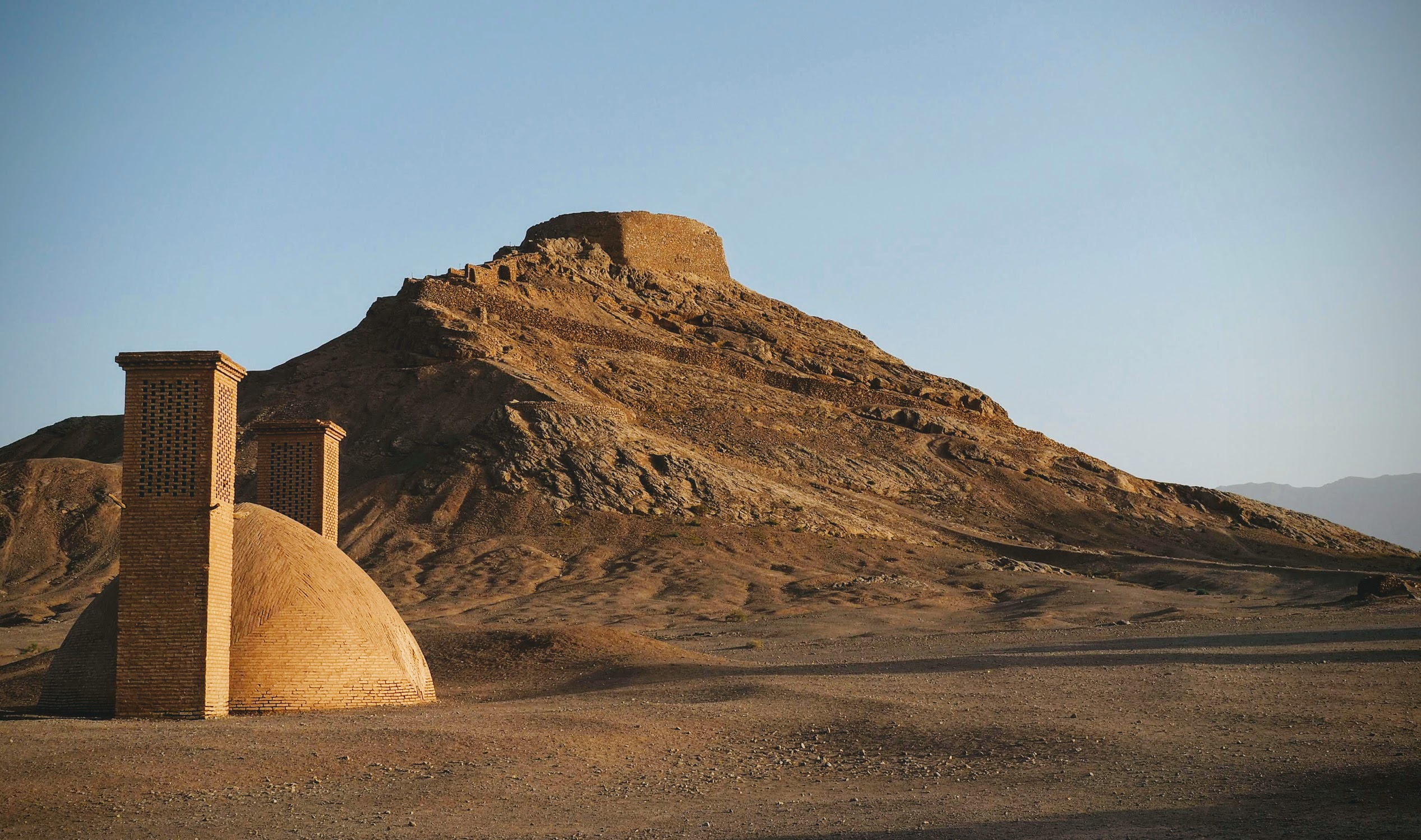 The Towers of Silence near Yazd