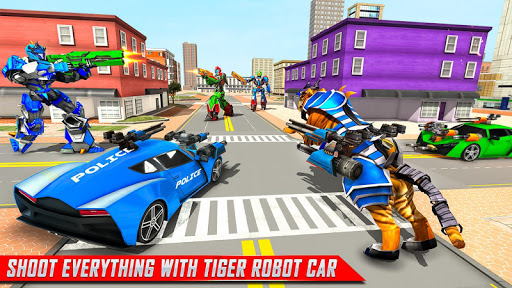 US Police Tiger Robot Game: Police Plane Transport 1.1.2 screenshots 12