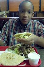 Photo: Jihad enjoying his bday lunch at Horus Cafe