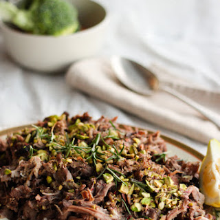 Slow Cooked Lamb Shoulder with Pistachio