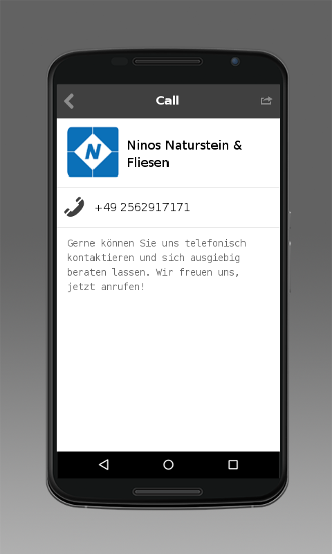 Ninos Naturstein & Fliesen- screenshot