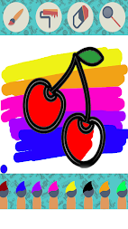 Fruits Vegetables Coloring Book For Kids APK screenshot thumbnail 2