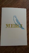 Photo: 二つ折りカード 1 (MERCI)〈表〉