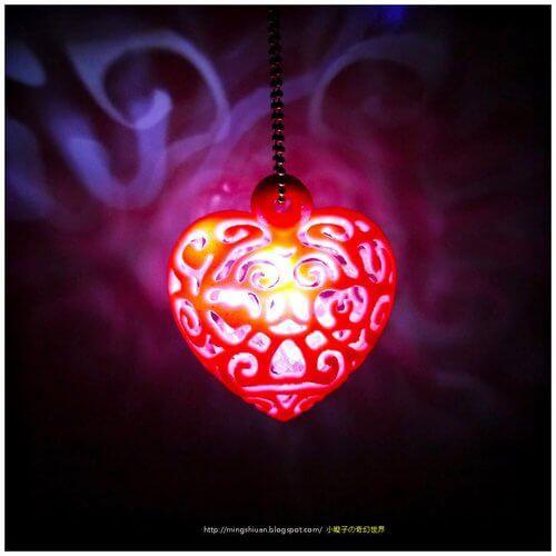 3D модель светящегося сердца
