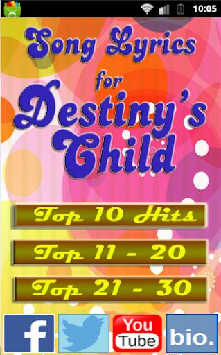 Best Songs for DESTINY'S CHILD