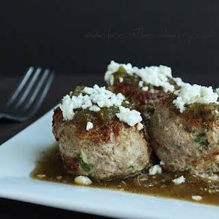 Green Chicken Enchilada Meatballs (Low Carb & Gluten Free).